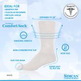 SIMCAN COMFORT DIABETIC SOCKS WHITE