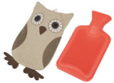 HOT WATER BOTTLE WITH COVER OWL AND FOX