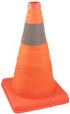 "12"" COLLAPSIBLE SAFETY CONE WITH PVC ZIPPER BAG"
