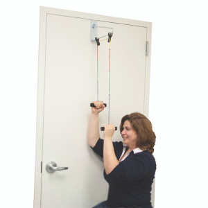 COLOUR CODED OVER DOOR SHOULDER EXERCISER
