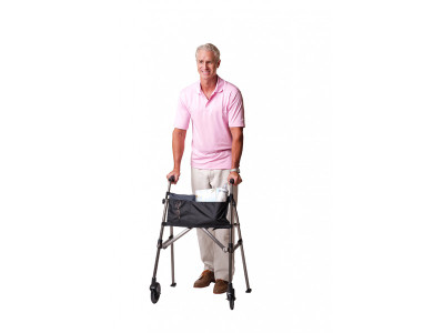 STANDER EZ FOLD AND GO WALKER BLACK