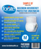 SAMPLE FORSITE MAXIMUM ABSORBENCY UNDERWEAR MEDIUM