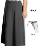 ADAPTIVE ARTHRITIS SKIRT WRAP WITH VELCRO 2XL BLACK