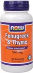 NOW FOODS FENUGREEK AND THYME 500 MG 100 CAPS