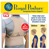 ROYAL POSTURE BACK SUPPORT BRACE LARGE