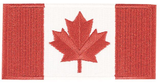 "CANADIAN FLAG CRESTS 2"" X 4"""