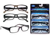 READING GLASSES 3 PAIRS +200