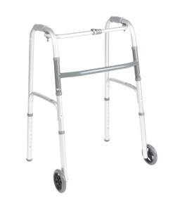 """DRIVE MEDICAL DELUXE FOLDING WALKER 5"""" WHEELS"""