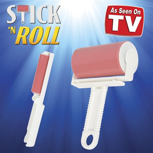 STICK AND ROLL REUSEABLE LINT ROLLER