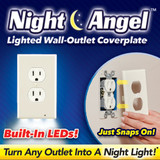 NIGHT ANGEL DUPLEX OUTLET LIGHT
