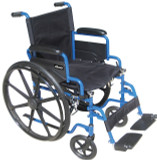 "DRIVE 20"" BLUE STREAK WHEELCHAIR WITH FLIP BACK ARMS"