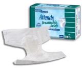 ATTENDS EXTRA ABSORBENT BREATHABLE BRIEFS MEDIUM 32 44""