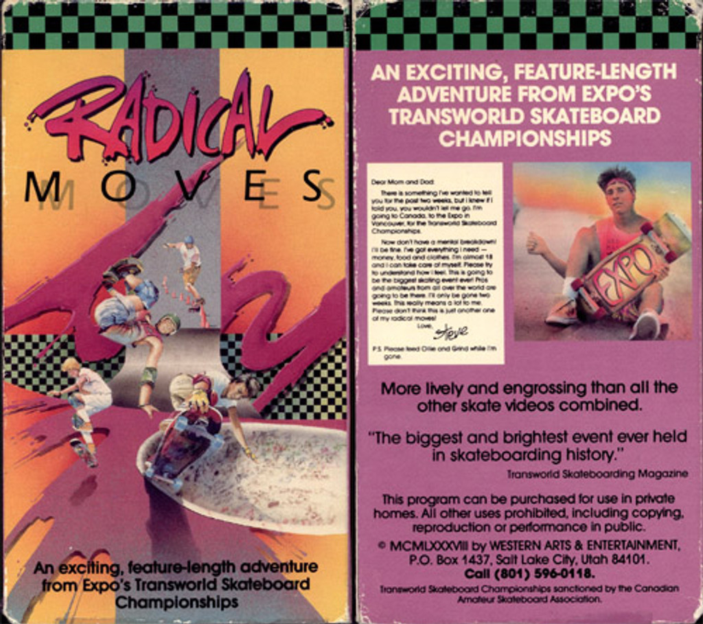 "Rare Skateboard movie ""Radical Moves"" from 1986 on DVD!"
