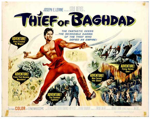The thief of baghdad DVD 1961 Steeve Reeves