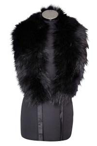 Large Black Fox Fur Collar LFC-01 (LFC-01)