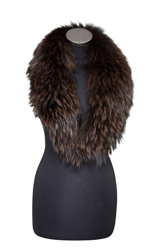 Medium Dark Brown Fox Fur Collar