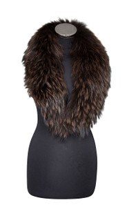Medium Dark Brown Fox Fur Collar