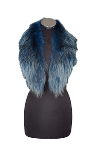 Medium Blue Fox Fur Collar MFC-07M