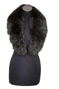Medium Olive Green Fox Fur Collar