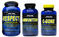 RESPECT Protein(Vanilla), AMMUNITION 180 Tablets & C-GONE 60 Capsule