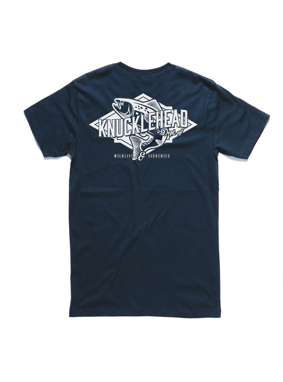 T-shirt Back: Large Trout print