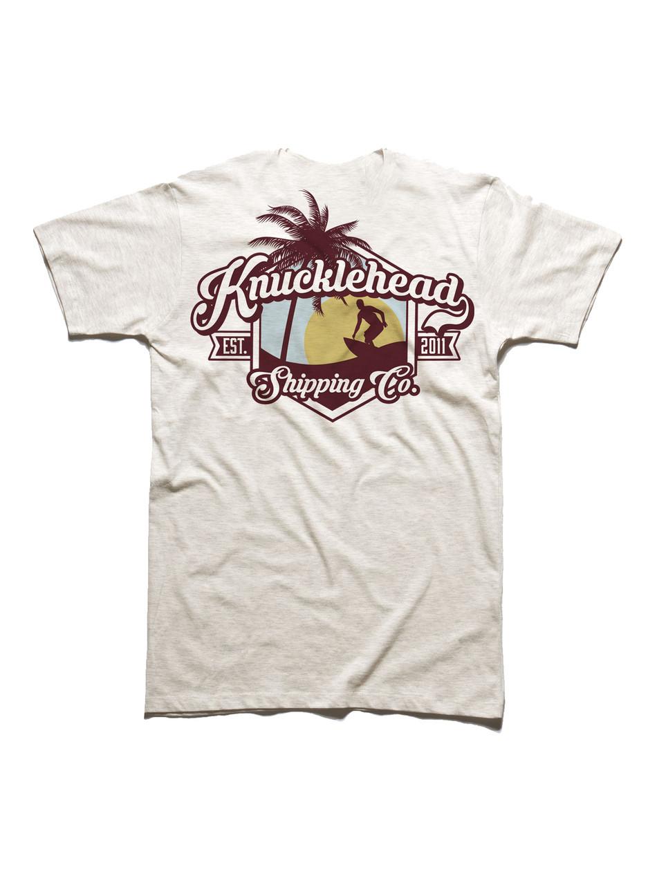 T-shirt Back: Large Surf Print