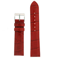 Red Leather Watch Strap in Alligator Grain - LEA200 - TechSwiss - Main