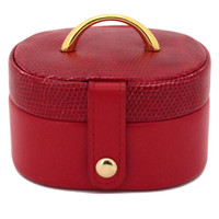 Red Leather Jewelry Gift Case | TechSwiss | TS2240RED