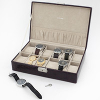 Burgundy Leather Watch Box | TechSwiss TS2890BUR | Main