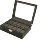 TechSwiss Black Leather Watch Box | Mens Luxury Organizers | TechSwiss TSA3736 | Main