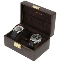 Compact Watch Cufflink Box | Compact Mens Cases | Small Dresser Top Organizers | Main