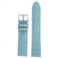 Light Blue Alligator Grain Leather Embossed Watch Band | TechSwiss LEA220 | Main