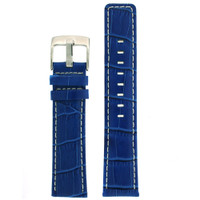 Square Modern Blue leather Alligator Grain Watch Band | TechSwiss LEA467 | Main