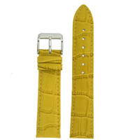 Yellow Alligator Grain Leather Watch Band | TechSwiss LEA235 | Main