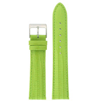 Lime Green Patent Lizard Grain Leather Watch Band | TechSwiss Leather Watch Bands  | LEA416 Main