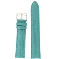 Aqua Patent Lizard Grain Leather Watch Band | TechSwiss LEA417 | Main