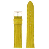 Yellow Patent Leather Lizard Grain Watch Band | TechSwiss LEA419 | Main