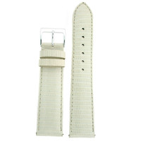 Genuine Lizard Watch Band in White