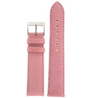 Pink Genuine Lizard Watch Band | Pin Exotic Skin Watch Band LEA721 | Main
