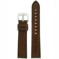 Watch Band Dark Brown Genuine Leather
