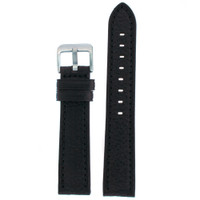 Watch Band Black Genuine Leather
