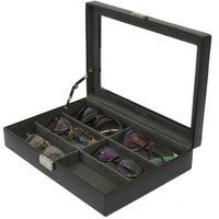 Sunglasses & Eyeglasses Organizer Case Open