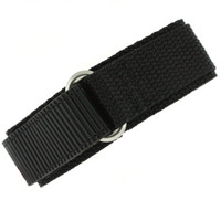Nylon Velcro Sport Watch Strap - Black