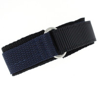 Nylon Velcro Sport Watch Strap - Navy/Black