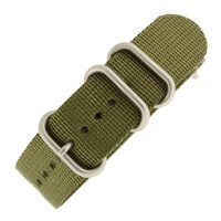 Nylon Strap with Rounded Buckle - Olive