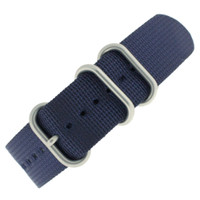 Nylon Strap with Rounded Buckle - Navy