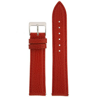 Red Lizard Grain Leather Watch Band | TechSwiss Leather Watch Straps |  LEA740 | Main