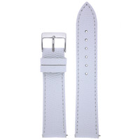 Leather Watch Band with Lizard Grain White - Quick Release Springs