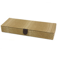 Crocodile Print Jewelry Box in Tan