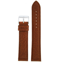Honey Brown Long Leather Watch Band | Vintage Leather Watch Strap | Long TechSwiss Straps LEA1410 | Main